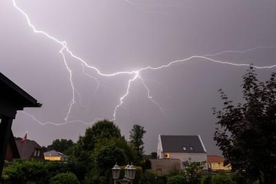 Blitzeinschlag bei Gewitter nicht mit vervisio
