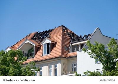 Brandschaden an Einfamilienhaus