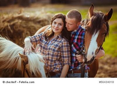 Kleine Pferde-Familie